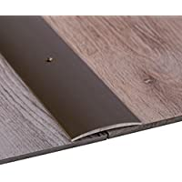 Perfil de grueso GedoTec a través de agujeros aluminio anodizado a través de velocidades de riel de perfil del suelo | De ancho de 30 - 40 - 50 mm | 3 coloures | 100 cm o de 200 cm | Made in Germany, Alu bronze eloxiert, 30 x 1000 mm