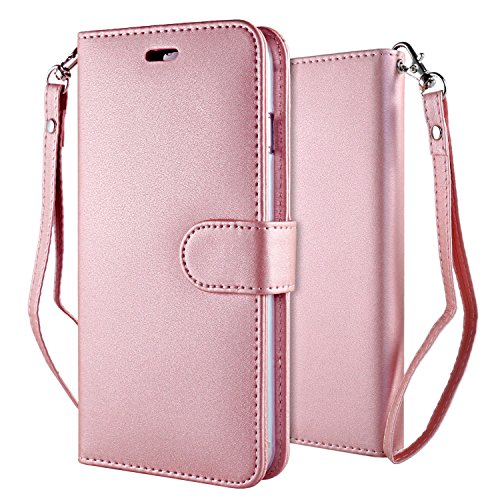 iPhone 6 Plus Funda Pink , Leathlux Puro Color Carcasa PU Cuero...