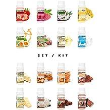 ALPHAPOWER FOOD® - ALPHAPURE® SERIES: 5er SET: Vegan Aroma 1400%* Flavouring System, Flavour Drops and Sweetener ohne Zucker, (5 x10 ml bestehend aus je einem Fläschchen mit den Geschmacksrichtungen, Natural Bourbon Vanilla, Fruity Strawberry, Swiss Chocolate, Delicious Banana, Fresh Milk) Liquid in einer Aromen Schutzglasflasche, Flavoring System, Geschmacks tropfen Set ohne Kalorien