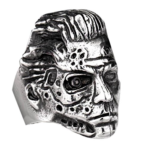 Moluss The Terminator Model Head Cool Mens Stainless Steel Jewelry Punk Rock Band
