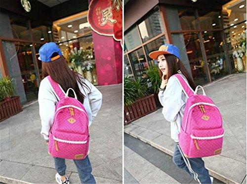 Go Further Neue nette Entwurf Reisetasche nationalen Stil Spitze grau Rucksack für die Schule Rot