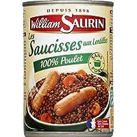 William Saurin Les saucisses aux lentilles 100% poulet La boite de 420g - Prix Unitaire - Livraison Gratuit Sous...