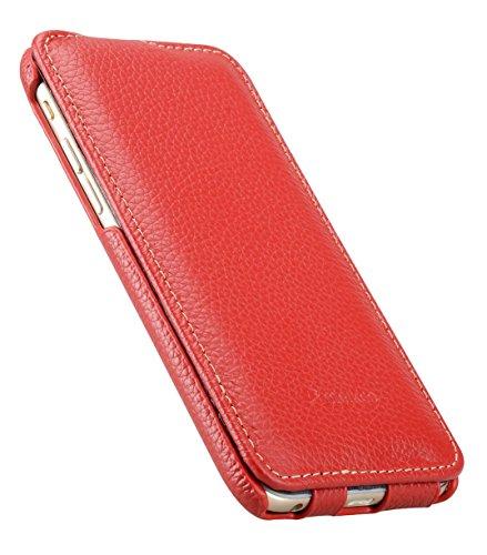 Melkco Jacka Type étui en cuir Premium pour Apple iPhone 6 - 4.7 pouces (Noir LC) rouge