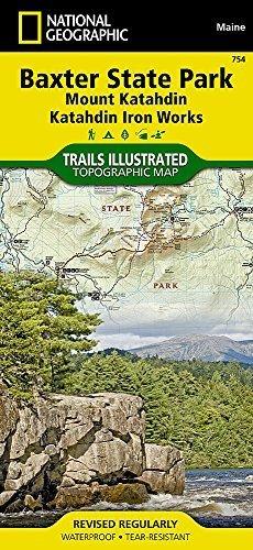 Katahdin Iron (Baxter State Park [Mount Katahdin, Katahdin Iron Works] (National Geographic Trails Illustrated Map) by National Geographic Maps - Trails Illustrated (2011-06-06))
