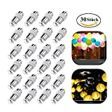 30st LED Ballons Lichter BestTrendy für Papierlampions lampions Wasserfeste Ballons Lichter, Nicht-blinkend,geeignet für Kindergeburtstag Neujahr Weihnacht Party, Warm-weiß