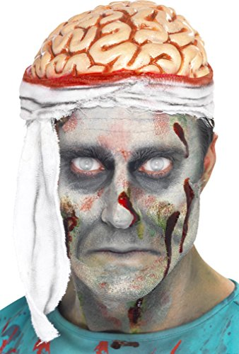 Halloween Ideen Party Scary (Smiffy Unisex Gehirn Hut, Bandagiert, One Size,)