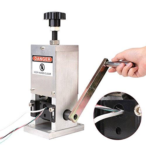 FIXKIT Recyclage Cuivre Cables Machine à Dénuder Machine Professionnelle Denudeuse de Fils Denudeur Epluchr Recuperatio Outil à Dénuder pour Récupération du Cuivre Fils-1.5 -25mm (recyclage)