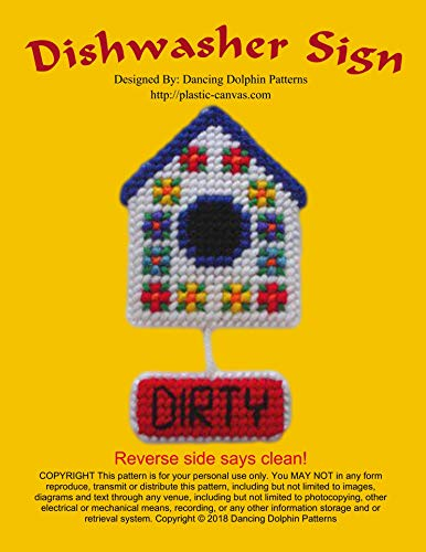 Canvas Cleaner (Dishwasher Sign: Plastic Canvas Pattern (English Edition))