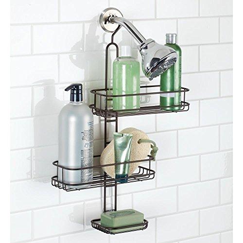 InterDesign Linea colgador ducha con 2 cestas y jabonera ...