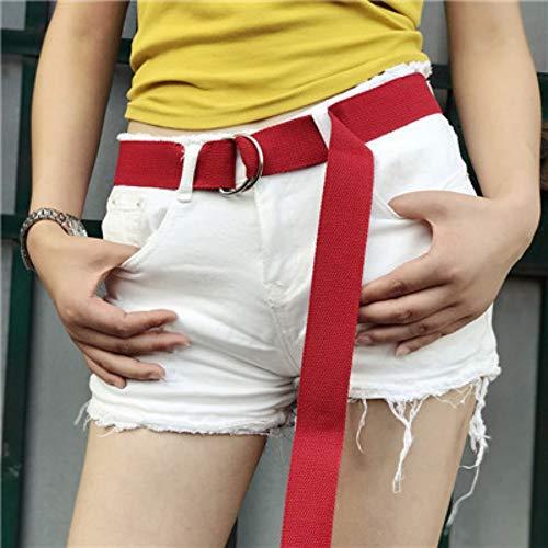 PIDAIKING Damen Gürtel Leinwand Weiblichen Gürtel Kurze Einfarbig Gürtel D Ring Schnalle Gürtel Freizeit Shorts Gürtel Klassische Gürtel Für Frauen -