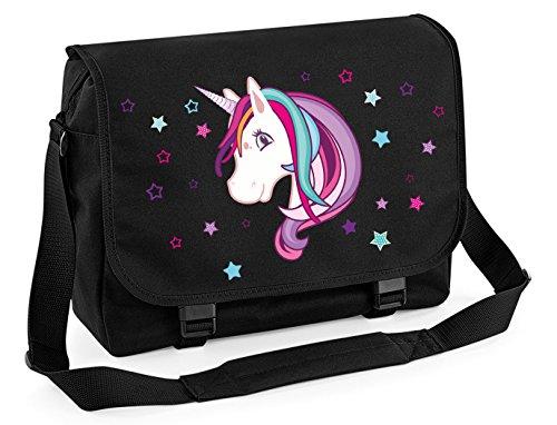 Mein Zwergenland Messenger Bag Einhorn Beauty, 14 L, schwarz/schwarz