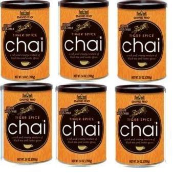 Chai Tee Tiger Spice Chai David Rio, 6 Dosen 398 g im Karton