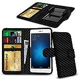 N4U Online® Carbon Fibre Clip On Series PU Leather Wallet