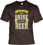 T-Shirt im Set mit Einem Bier Blechschild - Just Keep Calm and Drink a Cold Beer & 10 Gründe Warum Bier Besser ist als Eine Frau