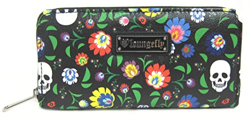 loungefly-floral-white-skull-print-wallet