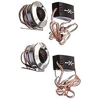 SoundXtreme TW110 Tweeters 350W MAX Power w/ Crossovers, Black/Chrome (5250483)