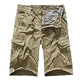 TEBAISE Pants Pure Color Shorts Herren Outdoor Taschen Strand Arbeit Hosen Cargo Pant 3/4 Herren Cargo Short Hose 2019 Sommer