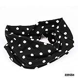 Multifunktionstuch Haarband Halstuch in schwarz mit kleinen weißen Punkten 020-00235