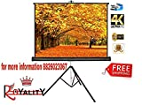 Royality Industries Tripod Stand Projector Screen (6 Ft. (Width) x 4 Ft. (Height)