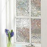 Warmcasa Film 3D de Fenêtre Film Electrostatique Anti Regard Décoratif Statique Protection UV pour Bureau Maison Chambre (Style 2 90x200 cm)
