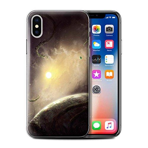 Offiziell Chris Cold Hülle / Case für Apple iPhone X/10 / Schwarzes Loch Muster / Galaktische Welt Kollektion Entfernten Stern