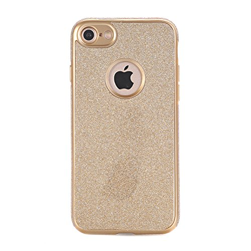 iPhone 7 Hülle, WindTeco Weich TPU Silikon Glitzer Schutzhülle Bling Handyhülle Protective Case Cover für Apple iPhone 7 (4,7 Zoll), Gold