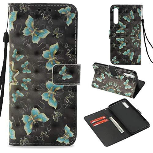 Firefish Huawei P20(PU Leder, 3D-Druck Muster Ständer Wallet Case Inneren Gummi Bumper Cover Schutz Kreditkarte Halterung Geburtstag Xmas Geschenk Huawei P20 Huawei P20 grün -