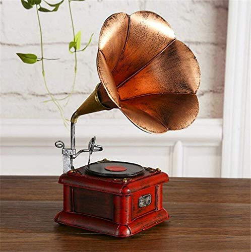 GuoEY Wmshpeds Home Dekoration Dekoration, Bügeleisen Handwerk, in Europa und in Den Vereinigten Staaten eingerichtet, im Alten Stil Plattenspieler, Vinyl Record Modell der MaSchöne