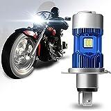 Winpower H4 / HS1 30W Motorrad Scheinwerferlampe Fernlicht/Abblendlicht Ersatzlampe für Halogenlampen 6000K Xenon Weiß 4000Lm Superhelligkeit, 1 Stück