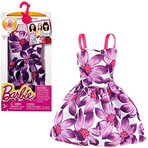 Barbie - Tendencia de la Moda para la Ropa de la Muñeca Barbie - Vestido con Flores Grandes