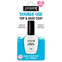 Jaquline USA Double Use Top & Base Coat, White, 12 ml