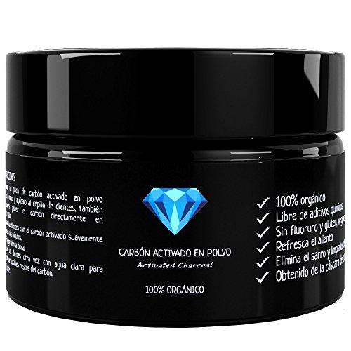 Carbón Activado Premium – Polvo 100 % orgánico – Sin aditivos...