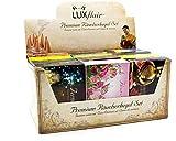 Luxflair Premium cono fumatore/candele da fumo 12 x 20 pezzi nella confezione XXL. Classico, fiorito, fruttato, natalizio. Confezione economica con supporto per cono