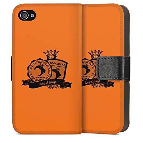 Apple iPhone 5 Housse Étui Silicone Coque Protection Roi des rois Couronne Musique Sideflip Sac