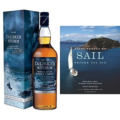 Bundle Talisker Storm Single Malt Scotch Whisky 70cl and Fifty Places to Sail Before You Die Book