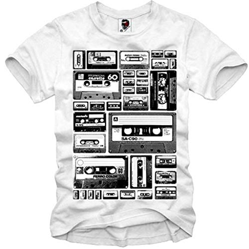 E1Syndicate T-Shirt Tape Deck Cassette Analog Cassette Compact Audio S-XL