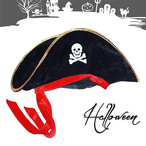 Kolonial Mädchen Kostüm Halloween Kind - Wood.L Halloween Piratenhut Piratenkapitän Hut Maskerade Performance Requisiten für Kostümzubehör - Party Favor Dress Up Hut Campus Dramen Theateraufführungen Designer