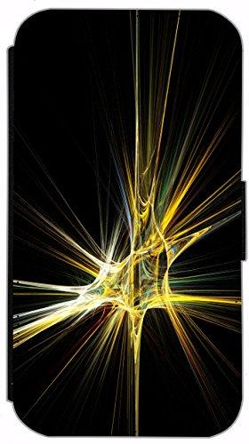 Kuna Flip Cover für Apple iPhone 5 / 5s Design K366 Klavier Noten Schwarz Hülle aus Kunst-Leder Handy Tasche Etui mit Kreditkartenfächern Schutzhülle Case Wallet Buchflip Rückseite Schwarz Vorderseite K365