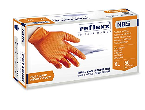 Reflexx N85/XL, guanti in nitrile FULL GRIP | HEAVY DUTY