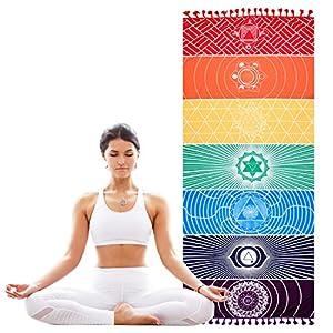 KATELUO Chakras,Tapiz,Manta Yoga,Toalla Yoga para