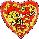 Ballonim Biene Maja Herz ca. 45cm Luftballons Folienballon Party Dekoration Geburtstag