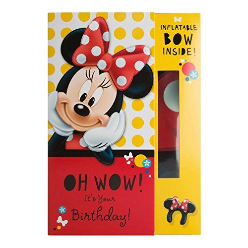 """Hallmark Disney Minnie Geburtstag Karte""""aufblasbar Schleife–Medium"""
