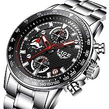 Reloj, Relojes Para Hombre,Militar Marea Especiales Deportivos Clásicos Negro Lujo Acero Inoxidable Resistente