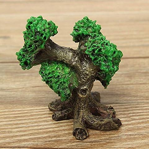 Bluelover Mini árboles de resina Micro paisaje decoraciones jardín decoración BRICOLAJE-verde