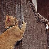 LIXING Anti-Greifer Kat Ausbildung Band, Möbel Schutzhülle Katzenkralle Schutz Sofa, Wand, Tür  Kat Kratzer Abschreckung (4 Packungen),Sticker