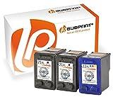 Bubprint 3 Druckerpatronen kompatibel für HP 21 22 XL für Deskjet F2180 F2224 F2280 F370 F375 F380 F4180 D1360 D2360 D2460 PSC 1410 1415 Schwarz Farbe