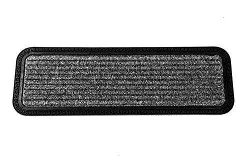 Gummierte Stufenmatte grau/schwarz 25x75 cm