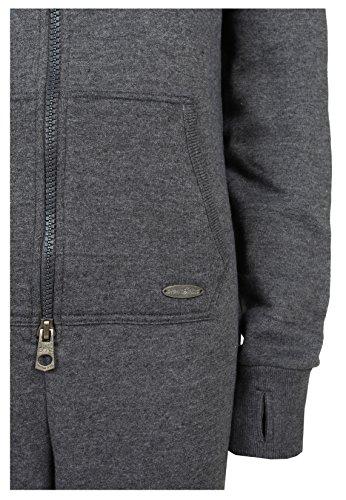 Damen Kuscheliger Jumpsuit | Einteiler aus bequemen Sweat dark grey - 3