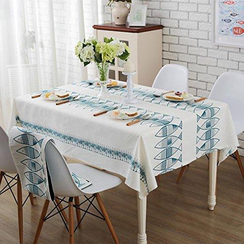 Fische Einfarbig Baumwolle Tuch Tischdecke Einfache Stoff Tischdecken Handtuch Platz Tisch Runde Tischdecken , 140*180cm Apple Serviette