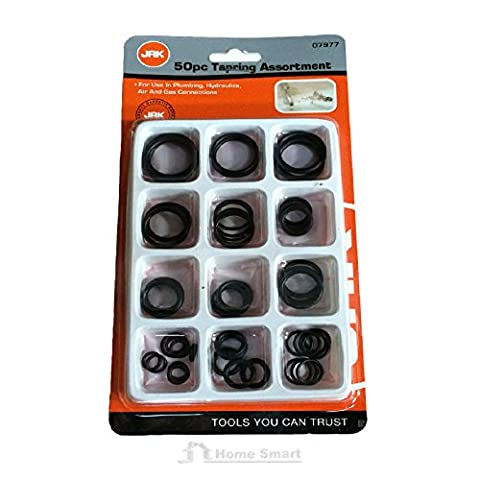 50 Pack Assorted Rubber O Ring Rings Plumbing DIY Tap Sink Washers Car Seals Air